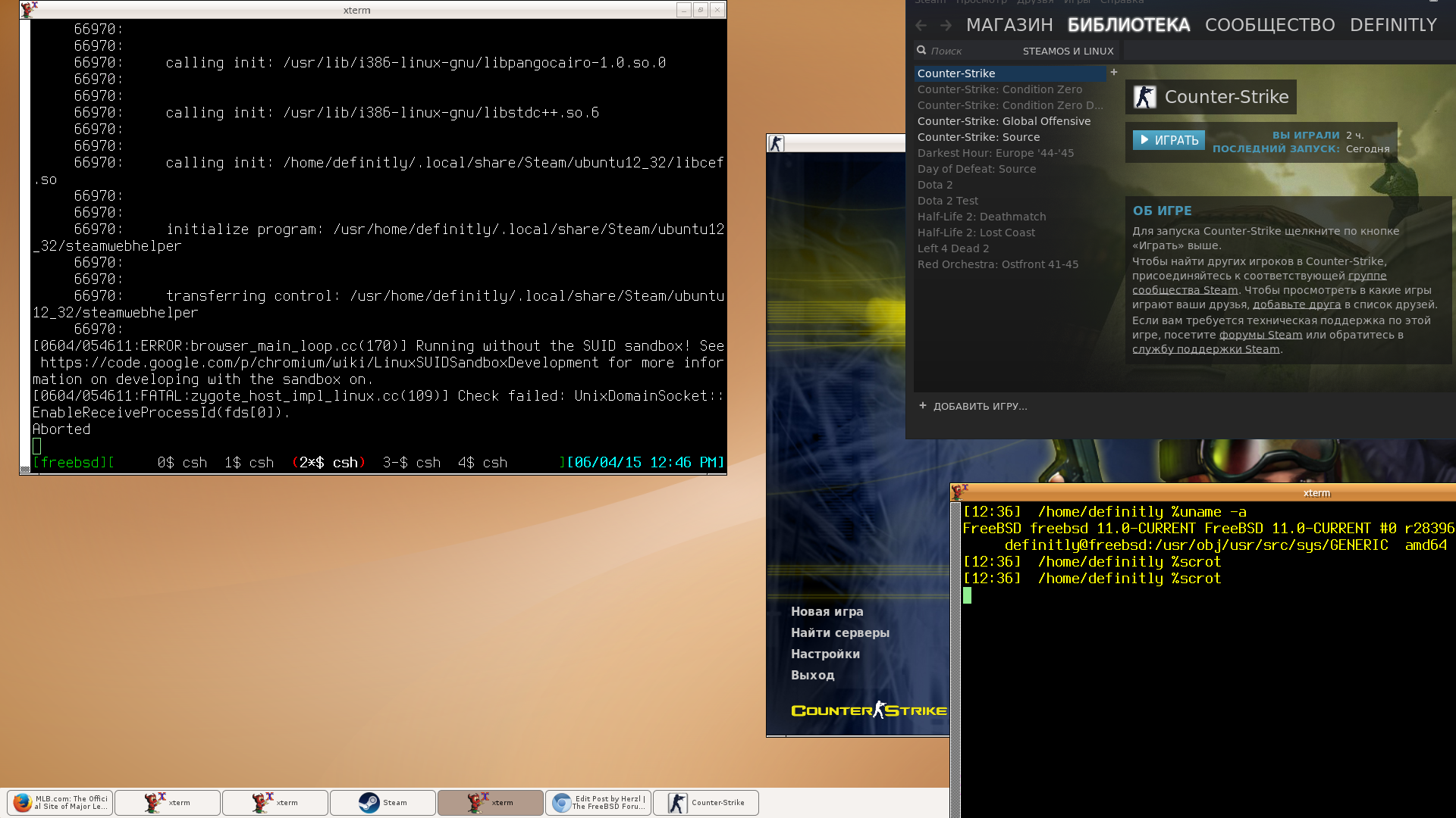 Adding New Linux Libraries: Steam Client   The FreeBSD Forums