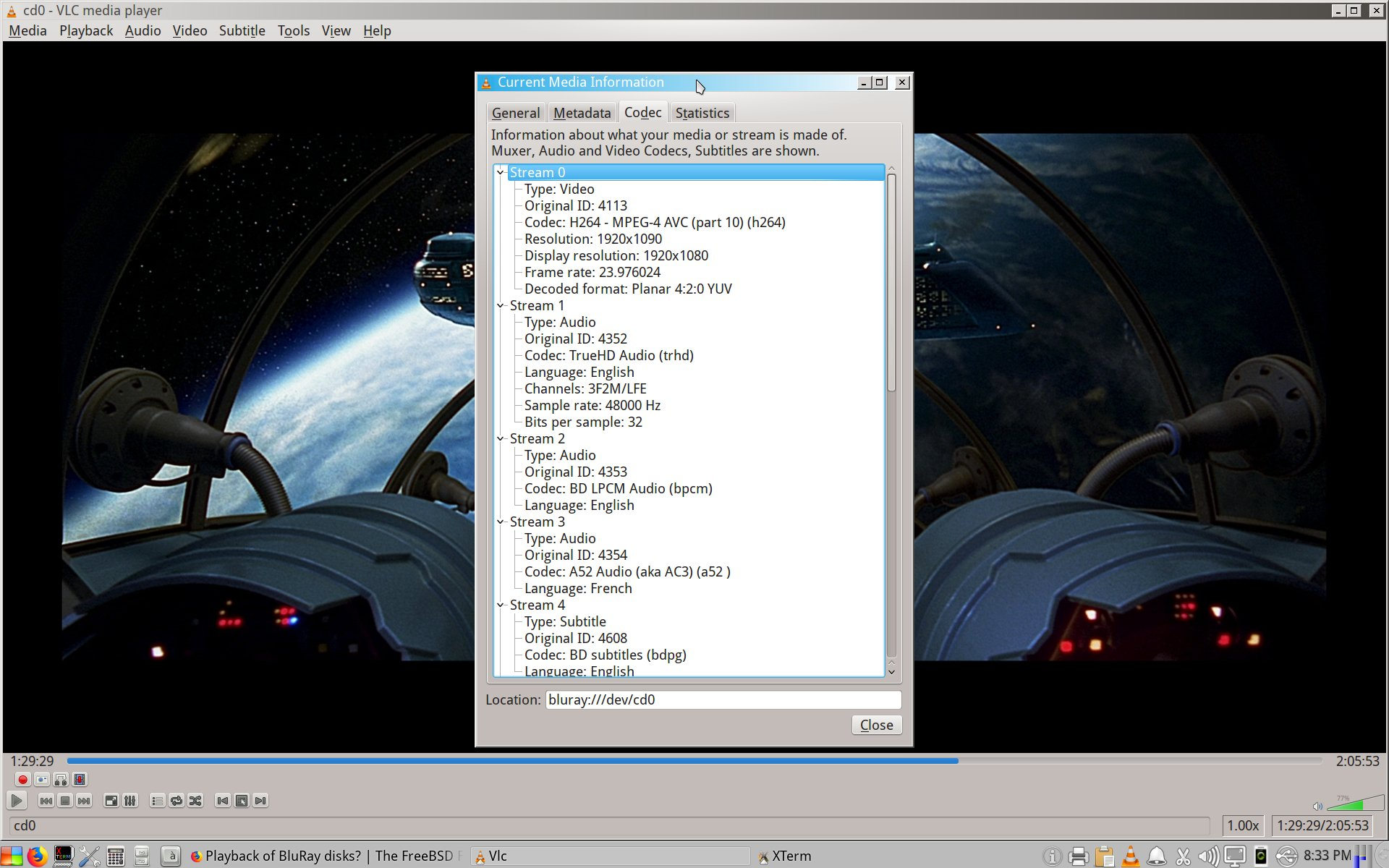 Playback of BluRay disks? | The FreeBSD Forums
