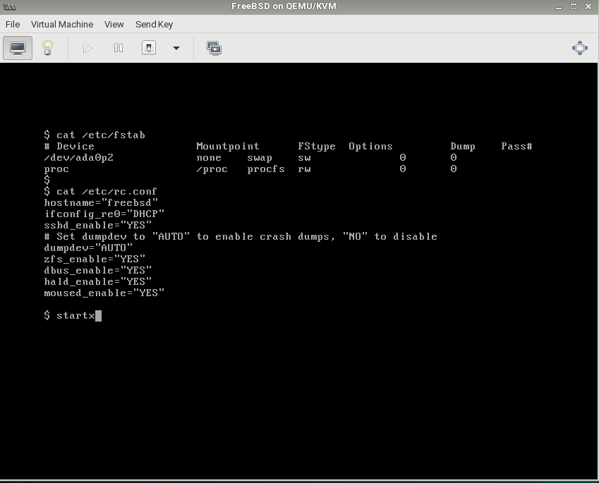 FreeBSD as KVM GUI guest | The FreeBSD Forums