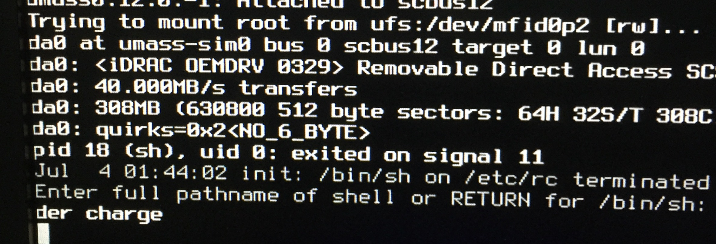 Problems booting up Dell R730 - IDRAC   The FreeBSD Forums