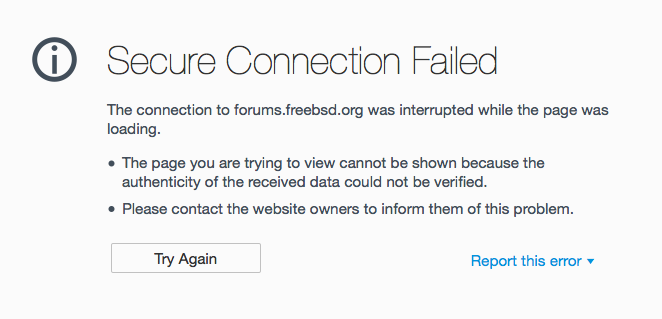 FreeBSD Forum not loading on Firefox | The FreeBSD Forums