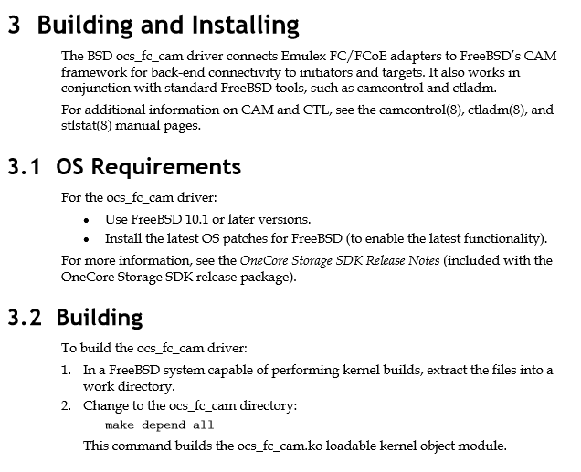 FREEBSD EMULEX DOWNLOAD DRIVERS